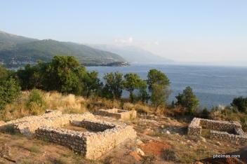 Ruinen über der Stadt