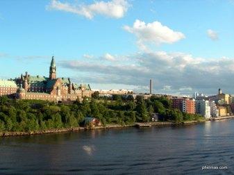 Stockholm vom Meer aus